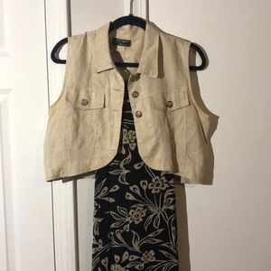 Vintage dress with matching vest
